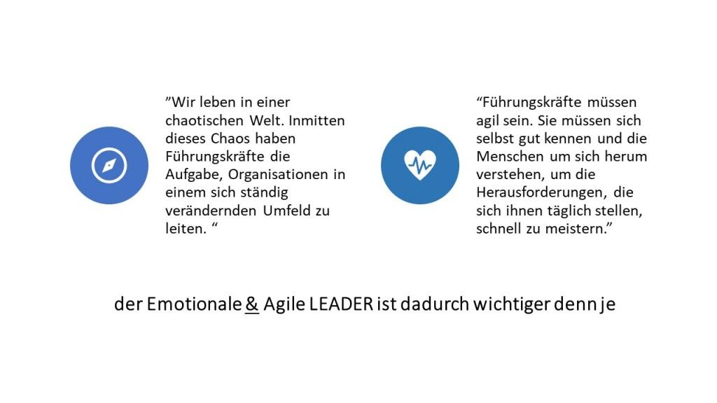 der Emotionale & Agile LEADER ist dadurch wichtiger